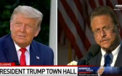 Mario bramnick at townhall with President trump